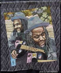 260 best Fabric Portraits images on Pinterest | Quilt art, Art ... & Street Tunes, 48 x by Deborah Ann (Yakima, Washington, USA) Adamdwight.com