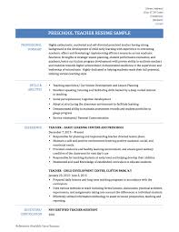 Classy Preschool Teacher Resumes In Preschool Teacher Resume