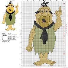 mr slate the flintstones cartoon character free cross sch pattern