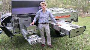 Camper Trailer Kitchen Off Road Camper Trailer Kimberley Kampers Camping Kitchen Youtube