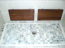 folding teak shower bench wall mounted fold down mount with slots