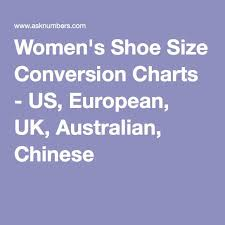Us Size Chart To China Just For Reference Womens Shoe Size Conversion Charts Us