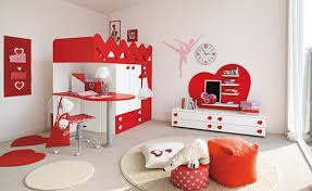 red and white furniture. white walls and red furniture in lovely bedroom designs m