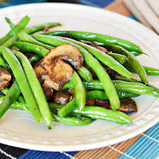green bean recipe. Contemporary Bean Easy Green Beans With Mushrooms Recipe In Bean