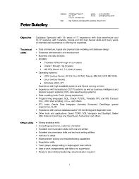 Data Warehouse Resume Examples Resume Objective Examples For Warehouse Worker 60 Objectives 19