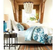 blue beaded chandelier glass dd wood bead