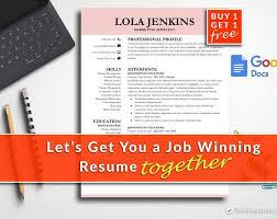 Free Modern Resume Templates Google Docs Modern Resume Template Google Docs Resume Template Instant Download