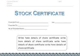 Shareholder Certificate Template Shareholder Certificate Template Doc Shares Voipersracing Co