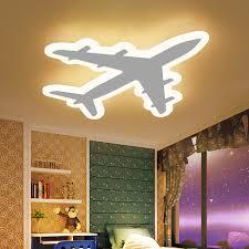 DIY Acrylic Airplane LED Ceiling Light Modern Kids Bedroom Ceiling lamp  decorative home indoor lighting