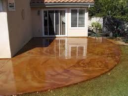 stained patio concrete