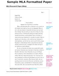 Mla Research Paper Format Heading Formatting A Research Paper