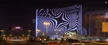 building facade lighting. Media Facade Building Lighting