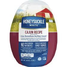 Boneless turkey breast roast, with savory herb seasoning. Honeysuckle White Frozen Cajun Recipe Boneless Turkey Roast With Gravy 3 Lb Pack Shop Frick S Market