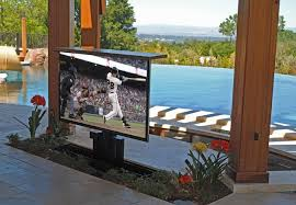 outdoor tv lifts traditional patio