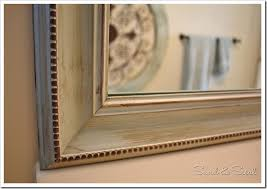 diy painted mirror frame. DIY Painted Mirror Frame: Using Paint \u0026 Glaze To Enhance Details By Sand Sisal Diy Frame P