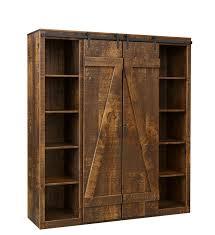picture barn door bookcase