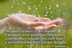 Image result for free image quality mercy with hand and rain heaven Shakespeare