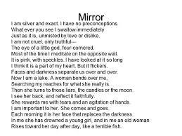 sylvia plath poetry ppt 6 mirror