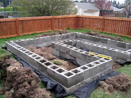 Small Picture Cement block garden I like the U shape Life Began In A Garden
