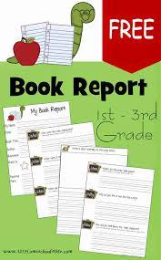 Free Book Report Templates Free Book Report Template 123 Homeschool 4 Me