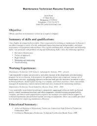 Hvac Resume Samples Technician Resume Technician Resume Examples Job