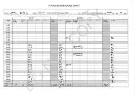 24 Hour Fluid Balance Chart Example Circulation