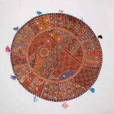 ethnic floor cushions.  Ethnic Boho Floor Cushion COVER Large Round Cushions Decor Ethnic Handmade  Pouffe Cover And