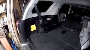 2013 3rd row seat belt removal and install - YouTube