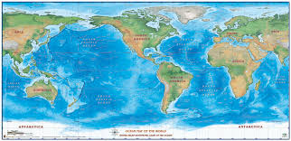 Ocean Depth Chart Sea Depth Charts Map World Oceans Of The World