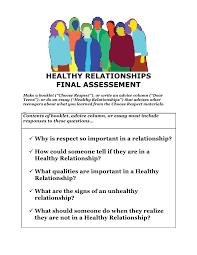 choose respect final task assessment rubric 2