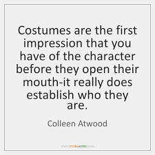 First Impression Quotes Beauteous Colleen Atwood Quotes StoreMyPic