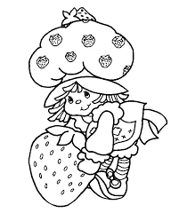 strawberry shortcake 80 s cartoon coloring page printable strawberry shortcake 80 s cartoon