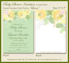 Flower Garden Baby Shower Invitation Party Spring Summer