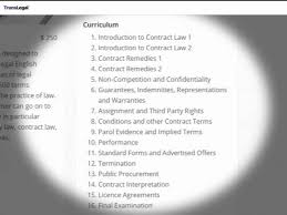 Legal Contract Fascinating TransLegal Legal English For Lawyers
