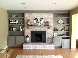 painted fireplace screens brick images paint stone white