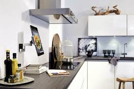 gray stainless steel chrome tablet ipad ebook kindle stand holder under stainless steel kitchen range hood wall mounted white high gloss u shaped kitchen