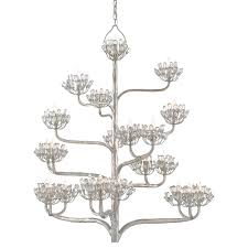 9000 0373 currey agave chandelier in a contemporary silver leaf finish