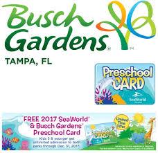 busch gardens florida resident tickets. Busch Gardens Preschool Card 2017 On Having Fun Saving \u0026 Cooking Florida Resident Tickets