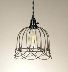 wire cage pendant light geometric diamond wire cage pendant light