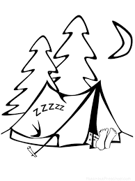 Small Picture Camping Coloring Page Nuttin But Preschool