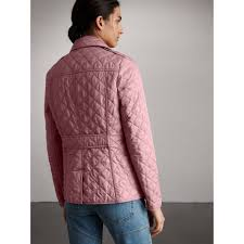 Diamond Quilted Jacket in Vintage Rose - Women | Burberry & Diamond Quilted Jacket in Vintage Rose - Women | Burberry - gallery image 2 Adamdwight.com