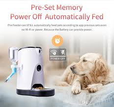 4 0l automatic smart pet feeder with water feeding wireless wifi ip for dogs cats remotely monitoring auto food dispenser