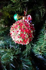 Paper Flower Christmas Tree Amazon Com Paper Flower Round Christmas Tree Ornament Handmade