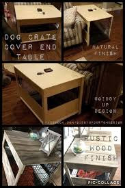 Dog Crate Cover End Table #dogcrate #diy #endtable #anniesloan #chalkpaint #