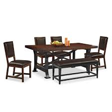 table 4 chairs and bench. 4 chairs and bench - mahogany. hover to zoom table m