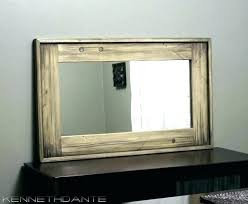 tv mirror frame rustic wood framed mirrors mesmerizing frames a78 rustic