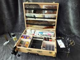 com tie anywhere portable fly tying box bench station fly tying