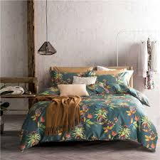 super soft duvet cover set 100 cotton bedding sets natural flower pattern printed high quality