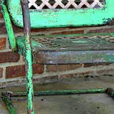 how to preserve rusty patina on metal