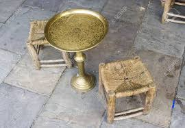 Vintage table and chairs Retro Arab Vintage Table And Chairs Made Of Brass And Wood Stock Photo 3181774 Ebay Arab Vintage Table And Chairs Made Of Brass And Wood Stock Photo